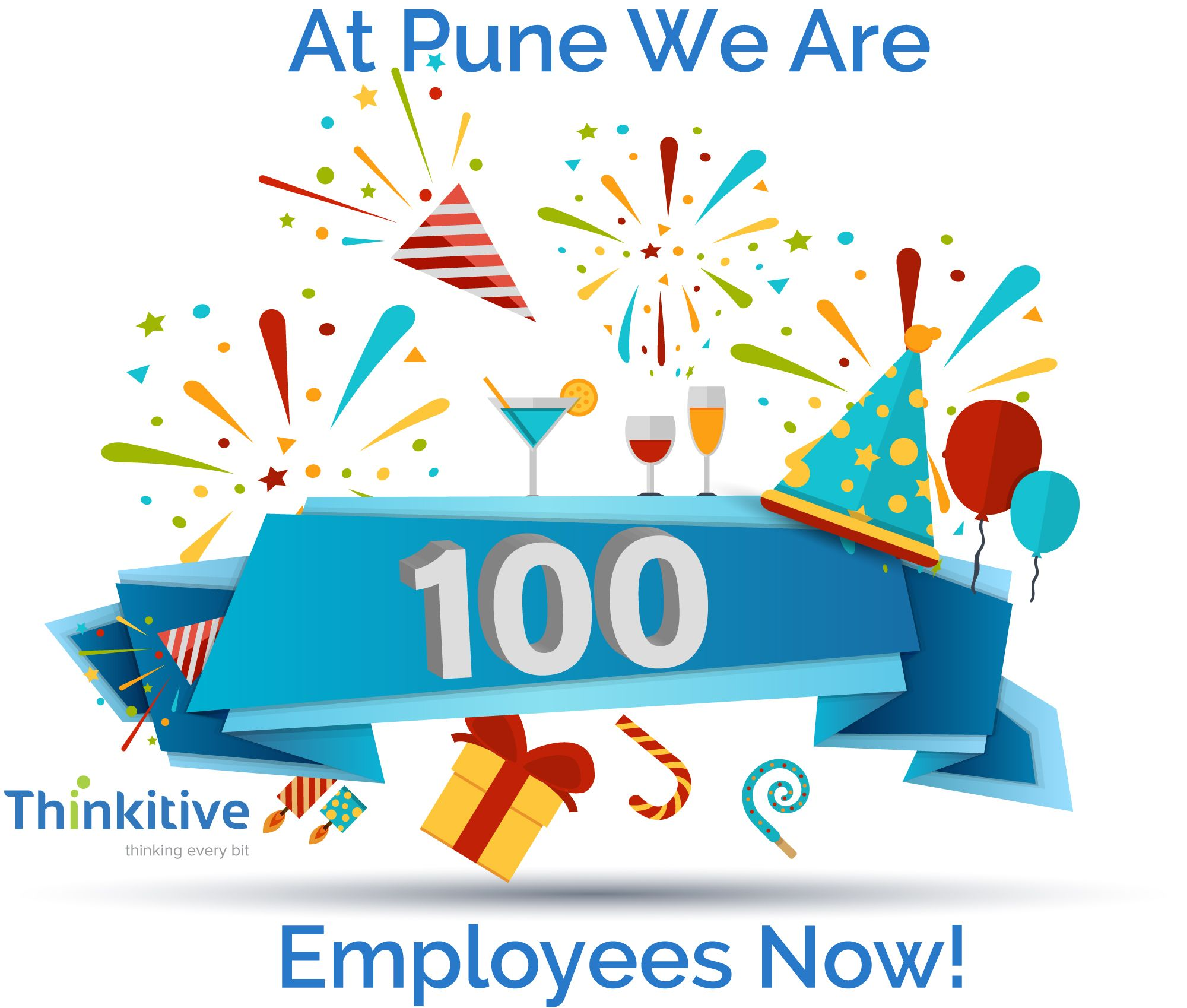 Photo of Celebrating 100 Employees At Our Pune Office.